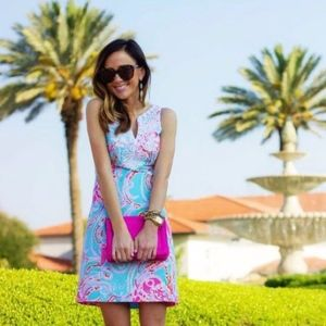 Lilly Pultizer Gabby Shift Dress Jellies be Jammin